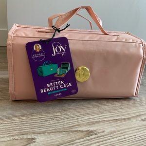 NWT Joy Mangano Better Beauty Case blush/large